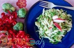 Apple Brussels Sprout Salad with a Maple Citrus Dressing