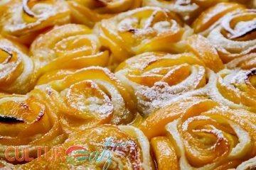 Peach Rosette Tart