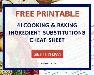 41 cooking and baking ingredient substitutions side bar