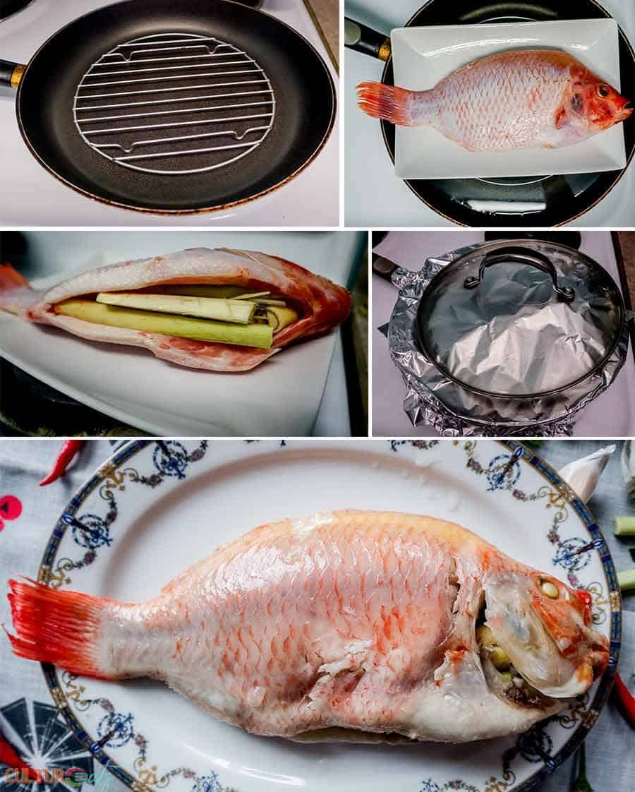 Thai Steamed Fish Recipe how to steam a fish