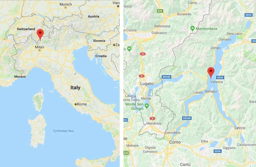 Italian Lakes Holidays Lake Como map