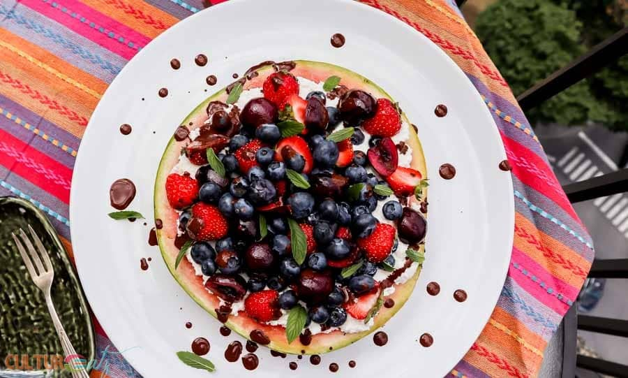 Blueberry Berry Grilled Watermelon Pizza