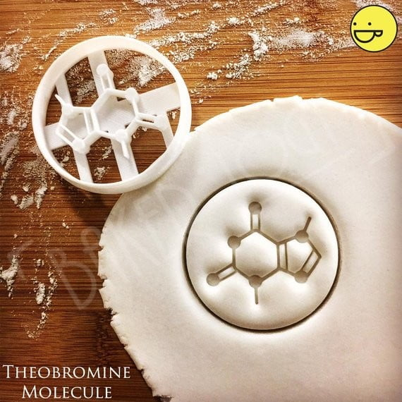 Theobromine Molecule cookie cutter - Chocolate Chemistry
