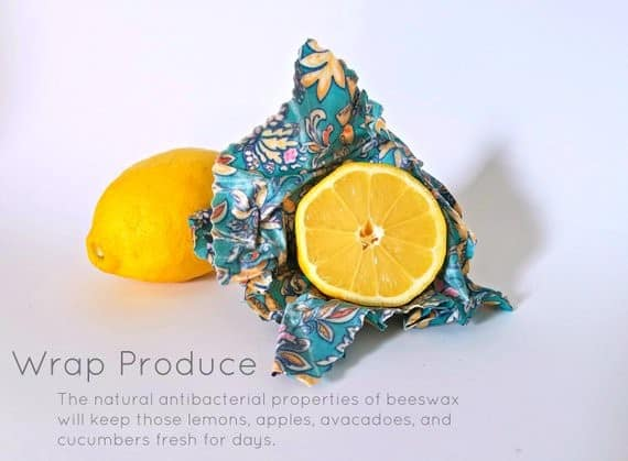 >Beeswax Wraps- Reusable Produce Wraps and Food Storage