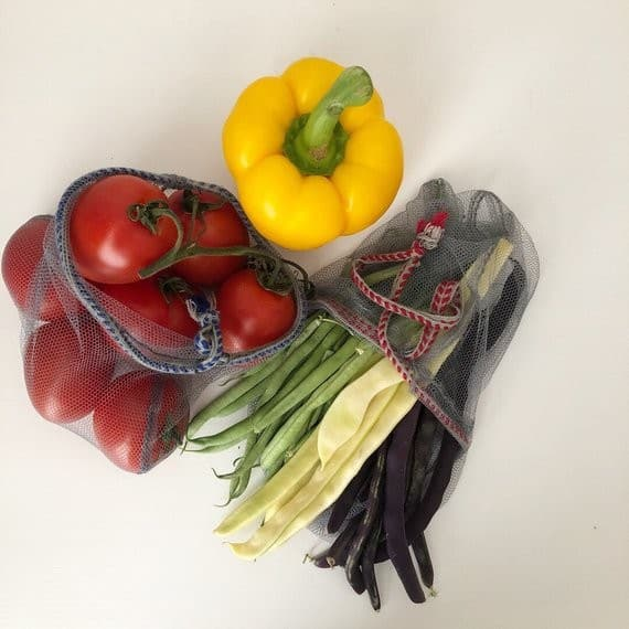 Produce bags set of 3 - zero waste fruit and veggie bags
