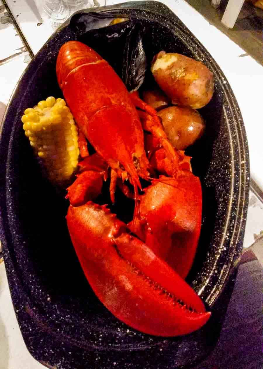 Aacdia Bar Harbor lobster dinner