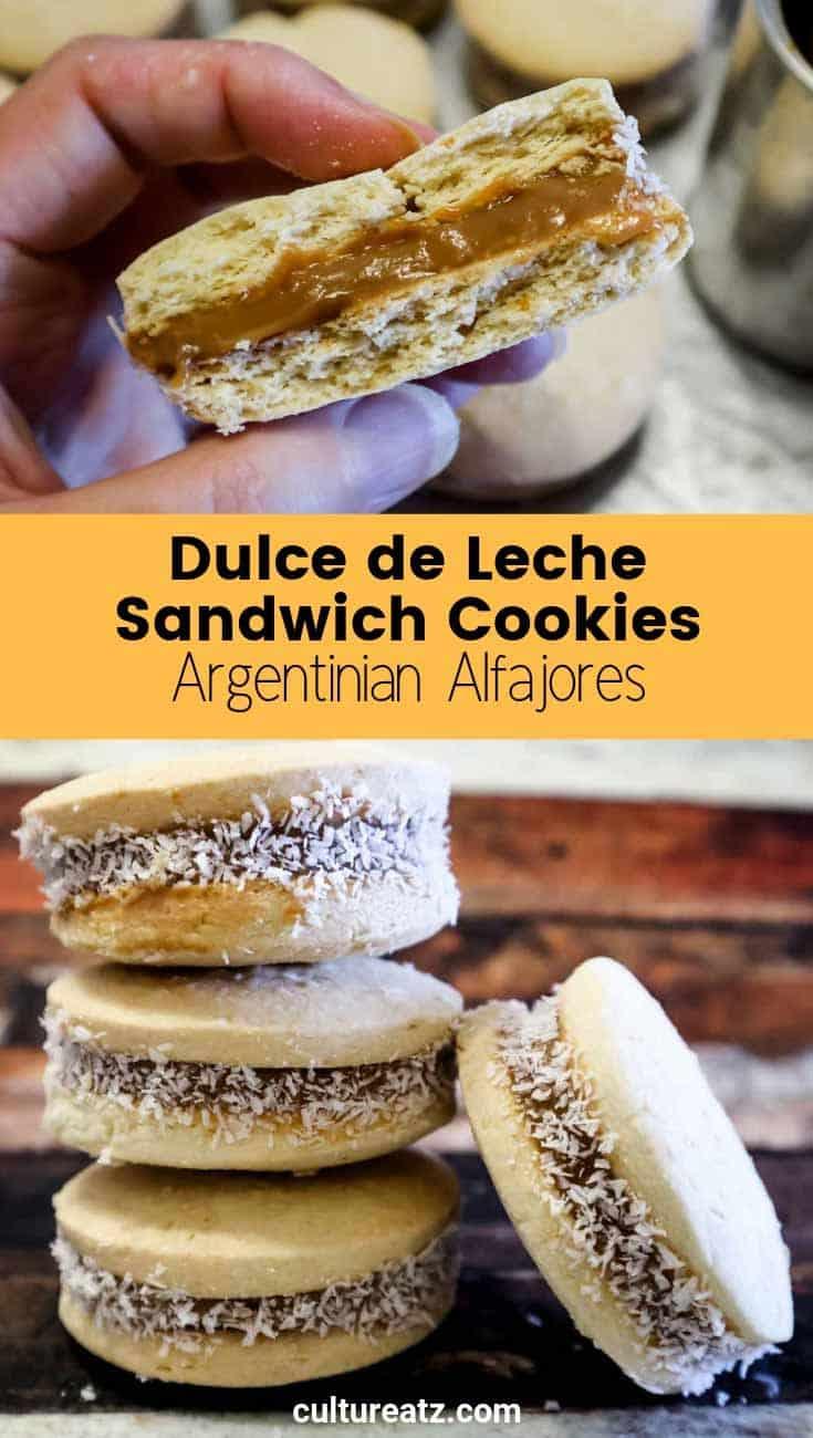 Alfajores Dulce de Leche Sandwich Cookie