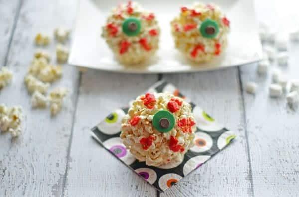 Halloween Eyeball Popcorn Balls