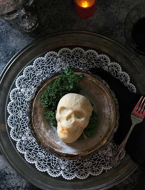 Spooky Skull Vegan Pot Pies