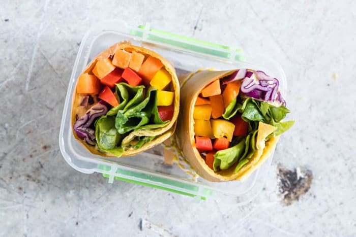 rainbow tortilla wrap
