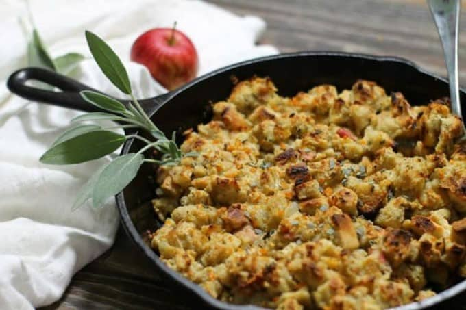 Skillet Cooked Apple and Sage Stuffing