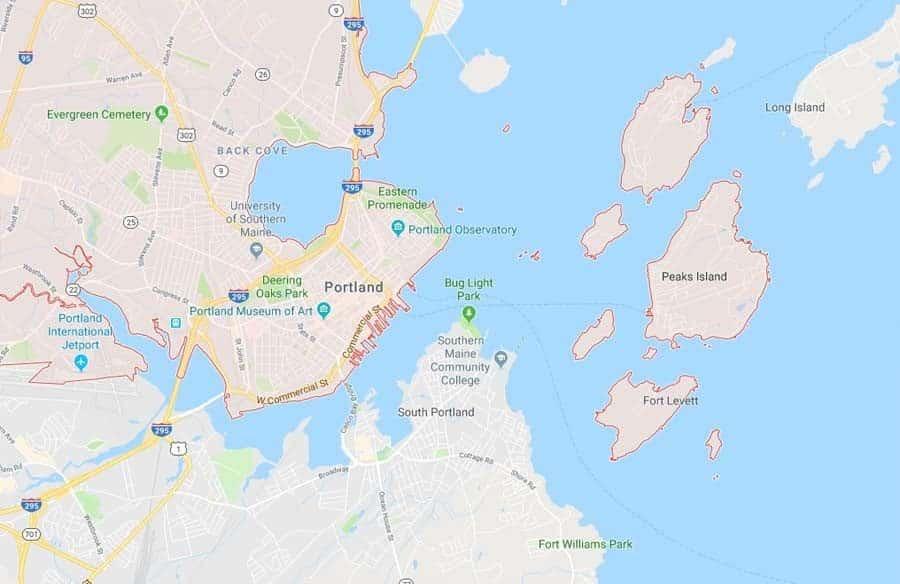 portland maine map