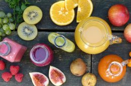 fresh fruit puree smoothies