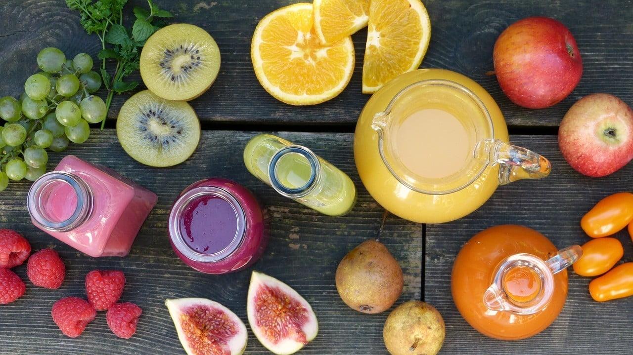 fresh fruit puree smoothies