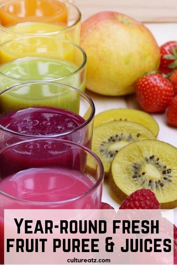 fresh fruit puree