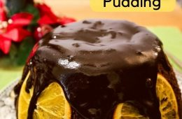 Steamed Orange Chocolate Christmas Pudding