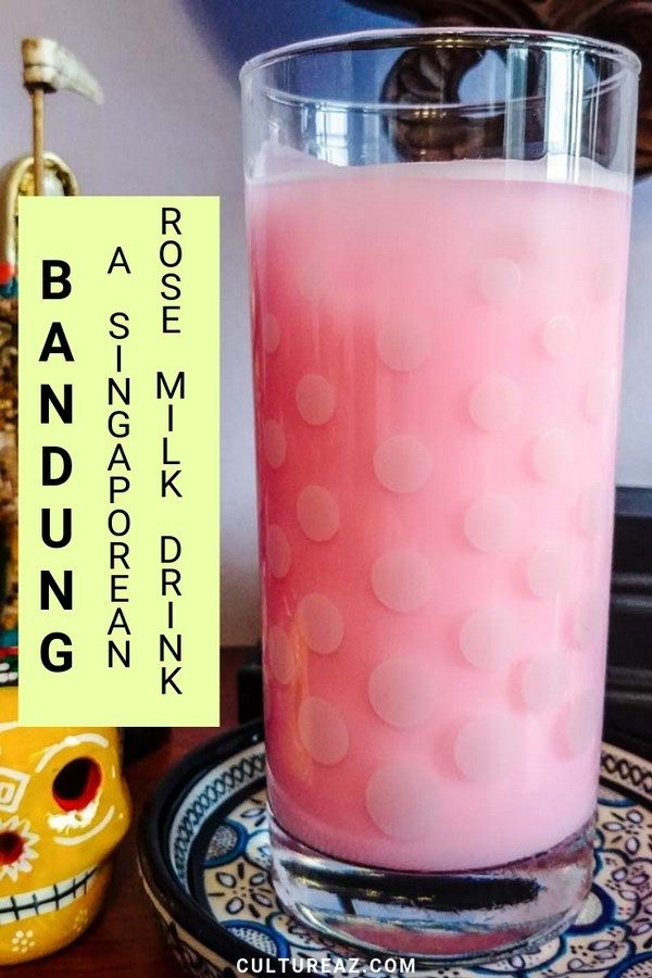 bandung singaporean rose milk drink