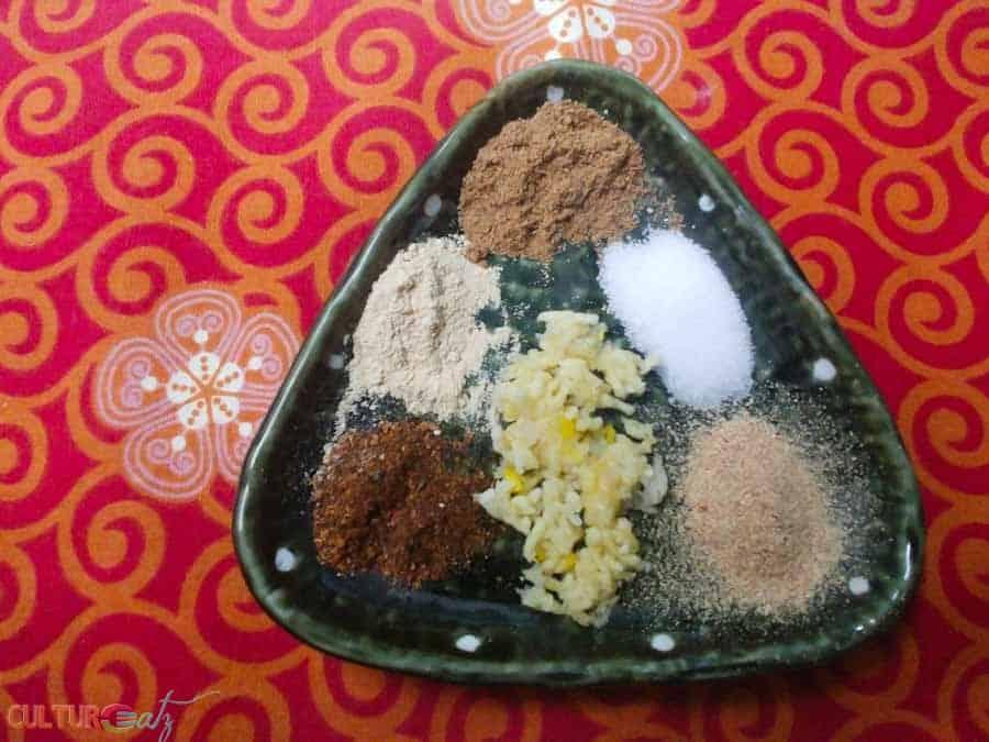Georgian Ajika Dry Spice Paste ingredients