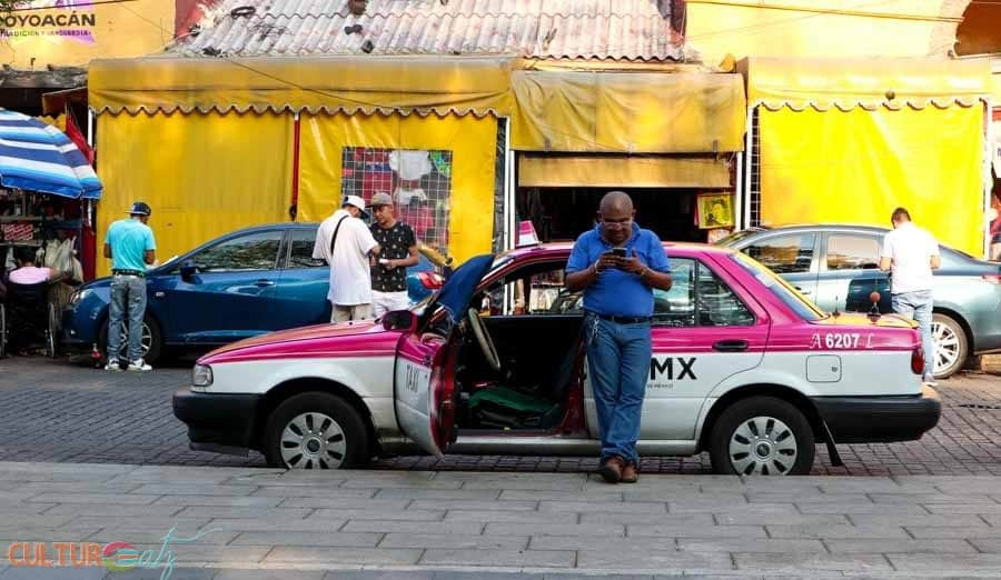 Trip to Mexico City taxi Coyoacan