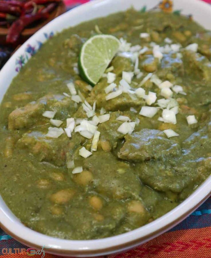Mexican Mole Sauce Recipe Pork with Green Mole and White Beans lon