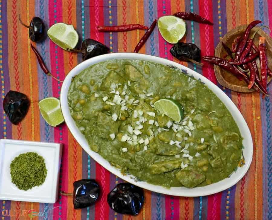 Mexican Mole Sauce Recipe Pork with Green Mole and White Beans top