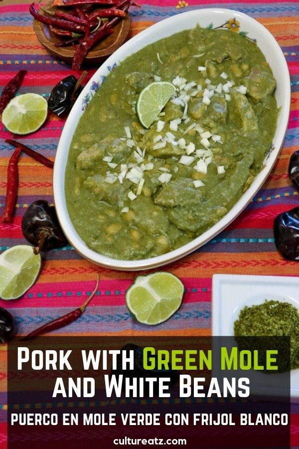 Pork with Green Mole and White Beans