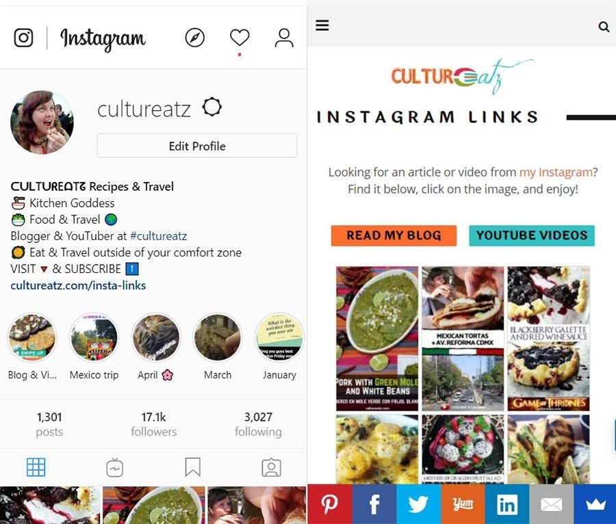 Add Links to Instagram Posts cultureatz
