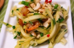 Cambodian fruit Green Mango Shrimp Salad