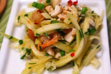 Cambodian fruit Green Mango Shrimp Salad