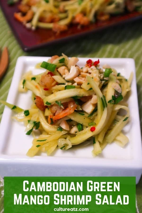 Cambodian Fruit Served Salty: Cambodian Green Mango Shrimp Salad