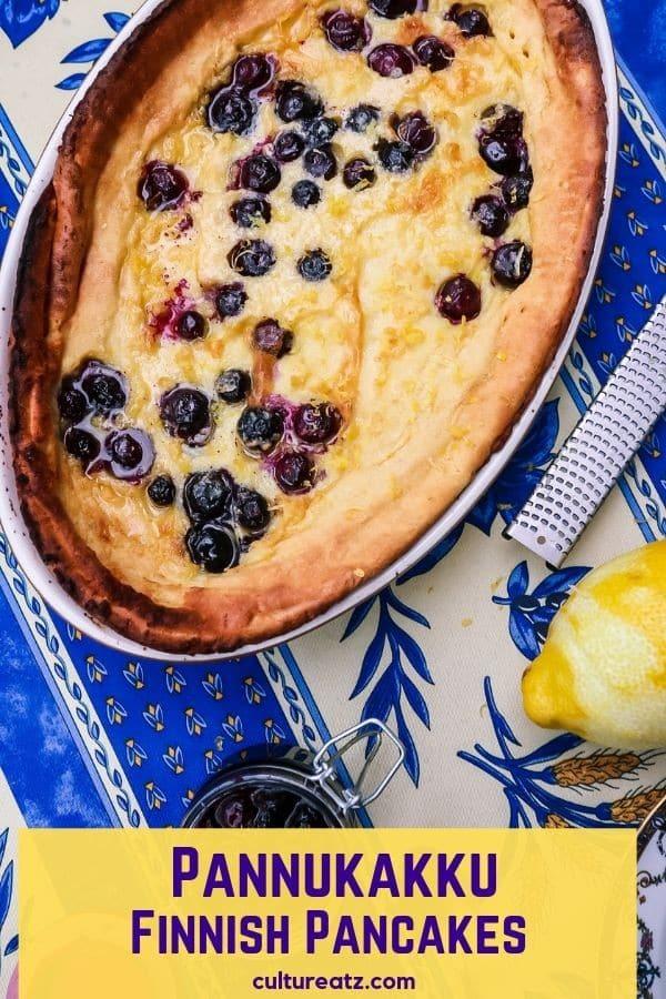 Pannukakku Finnish Oven Baked Pancakes