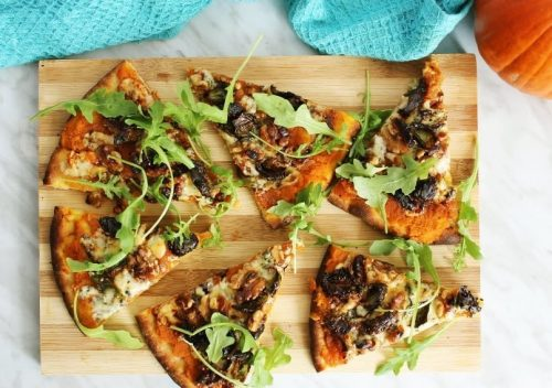 Blue Cheese Pizza with Pumpkin