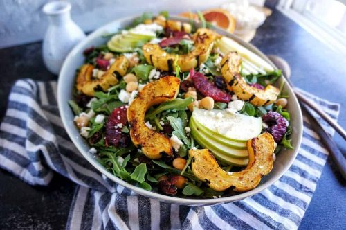 Delicata Squash & Apple Harvest Salad