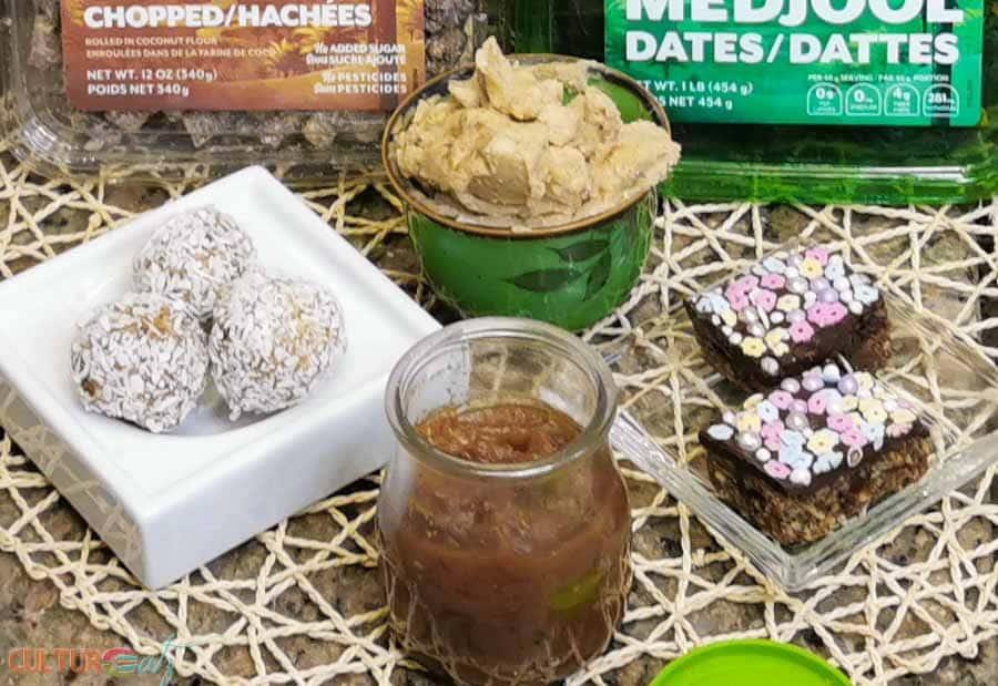 Natural Delights dattes Medjool recettes de collations santé.
