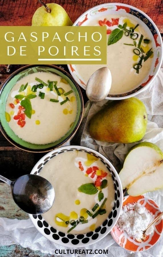 soupe froide gaspacho de poires