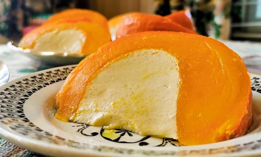 Laotian Pumpkin Coconut Custard slice