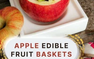 How to Make Happy Little Fun Edible Fruit Baskets with an Apple