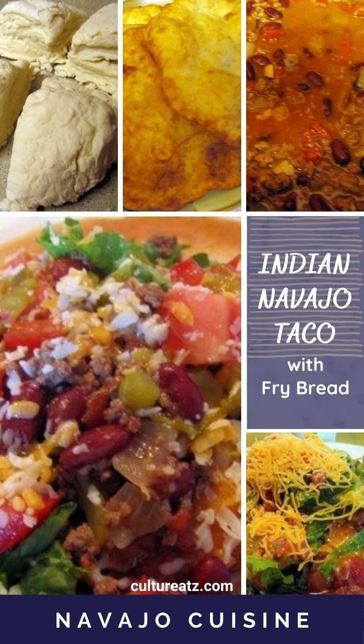 Indian Navajo Taco with Fry bread